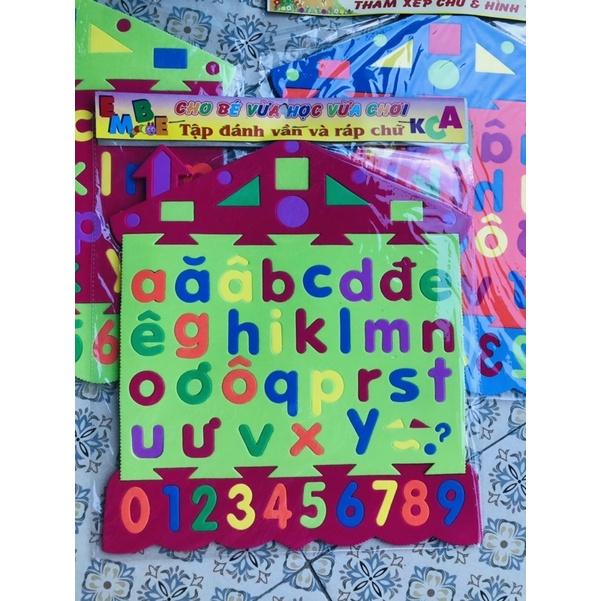 Bảng chữ cái- Bảng chữ cái bằng xốp giúp bé phát triển tư duy- bảng số bằng xốp