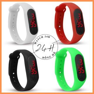 Đồng hồ nam nữ unisex LED cao cấp , dây cao su siêu dẻo nhiều màu so cute
