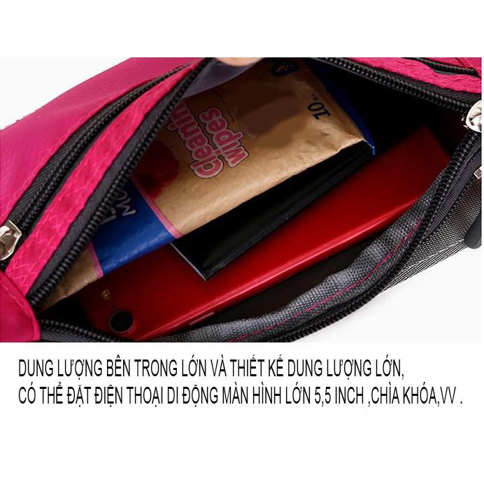 Túi đeo bụng ,Túi đeo hông  tâp thể dụcxanh dương chất cao cấp chống nước - Tuxa store
