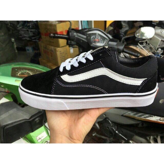 Giày vans đen trắng cao cấp