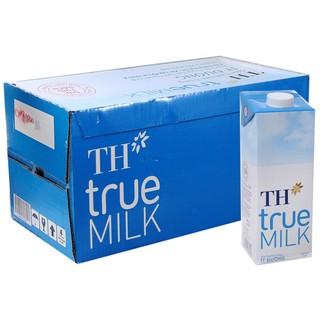 Sữa lít TH truemilk Có đường/ Ít đường / Nguyên chất (12 hộp)