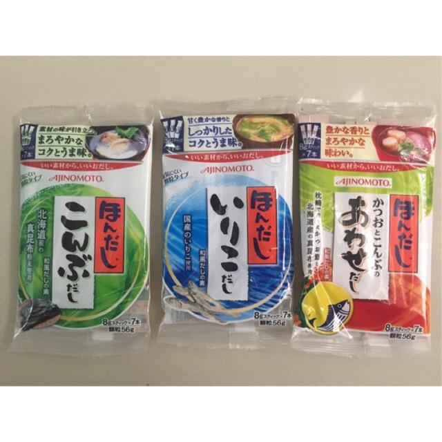 Combo 3 gói hạt nêm rong biển, nêm cá cơm, nêm cá ngừ Ajinomoto