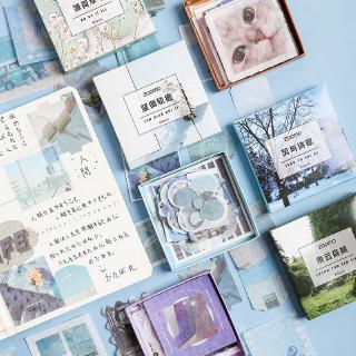 Yêu ThíchBộ 80 nhãn dán họa tiết cảnh quan du lịch cho trang trí thủ công
