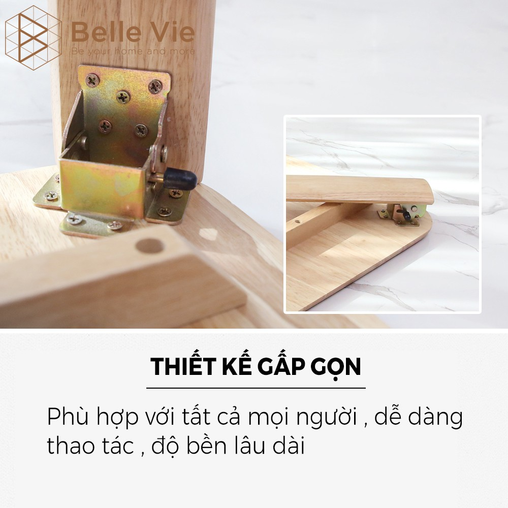 [ Thanh Lý ] Bàn Xếp Chân Gấp Gỗ BELLEVIE Bàn Xếp Thông Minh Gấp Gọn KT 60m x 60cm