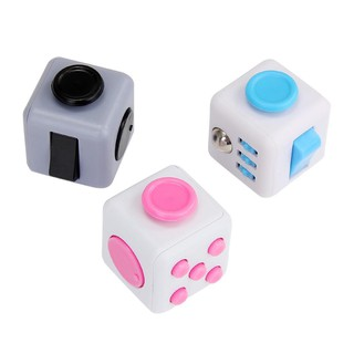 Stress Reliever Magic Cube for Worker – White + Bl
