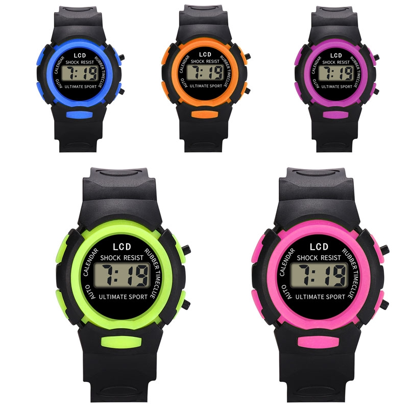 Children  Analog Digital Sport LED Electronic Waterproof Wrist Watch