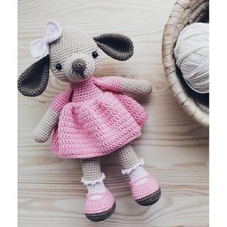 Cún váy hồng PATSKUN – Thú len handmade