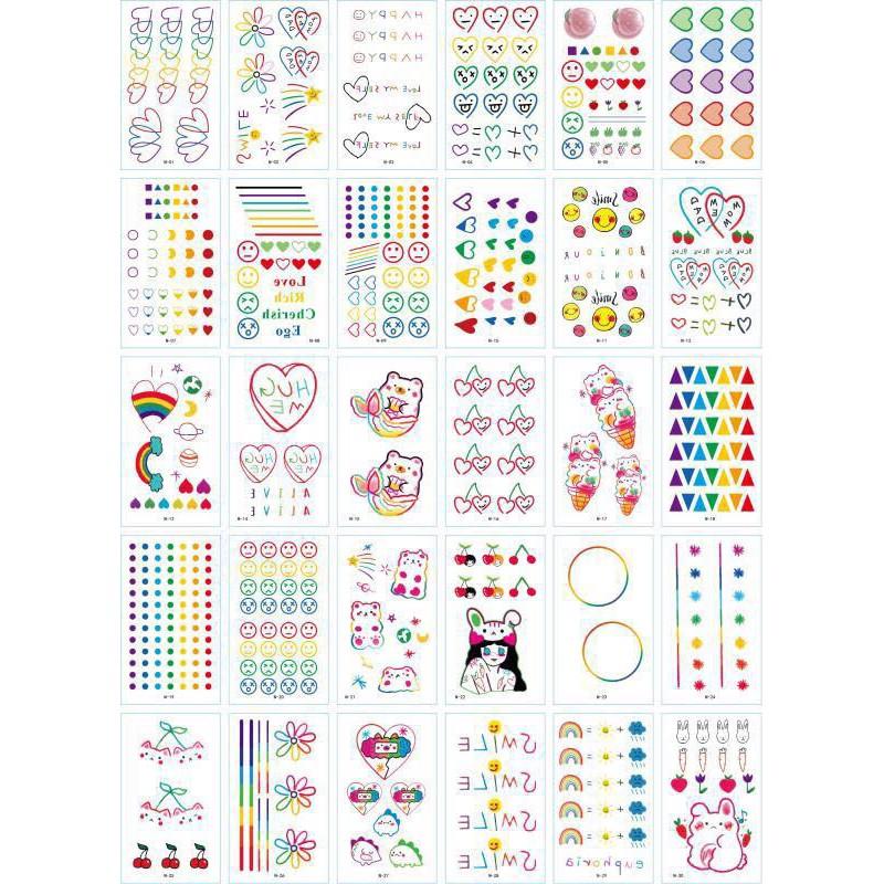 160 Hình Xăm Dán Tattoo Tha Thu Đẹp Mặt cười Icon Emoji vui nhộn