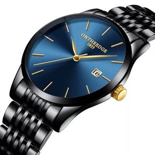 Đồng hồ nam ONTHEEDGE Dây thép không rỉ thanh lịch + Tặng hộp đồng hồ + Pin thumbnail