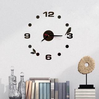 Đồng hồ nhựa Acrylic hình chú chim 3D dán trang trí tường DIY tiện dụng