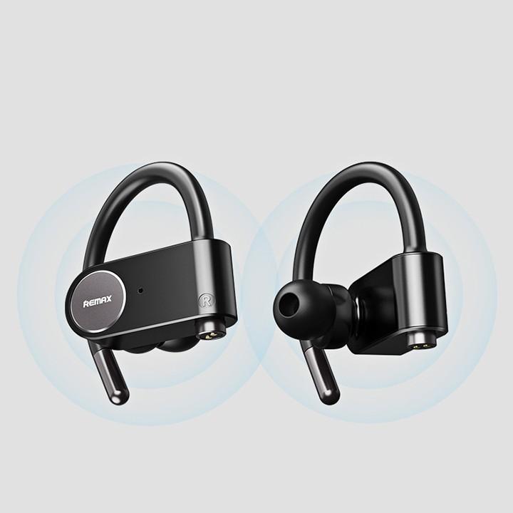Tai nghe thể thao True Wireless thể thao Remax TWS 20 bluetooth 5.0, có chống nước 2 kênh kết nối song song