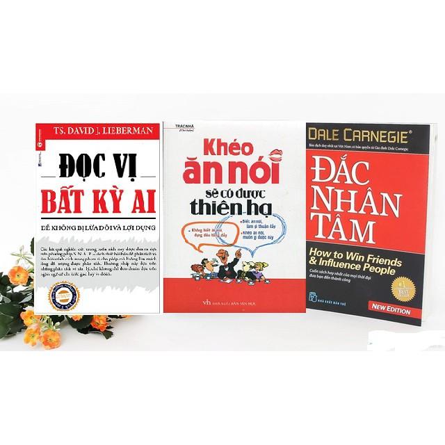 Combo 3 cuốn đọc vị bất kỳ ai (tái bản 2018), khéo ăn khéo nói (2018), đắc nhân tâm