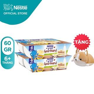 """[Tặng gấu bông Corgi) Combo 2 lốc 6 hộp váng sữa Nestle P'tit (60gr/hộp) giá chỉ còn <strong class=""""price"""">16.900.000.000đ</strong>"""