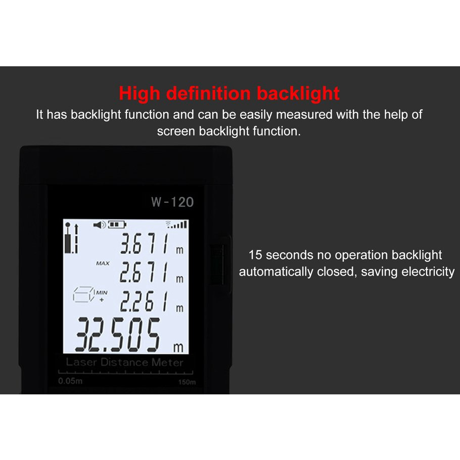 【SYH】Mini Handheld 120 Meters Laser Measuring Instrument Electronic Ruler