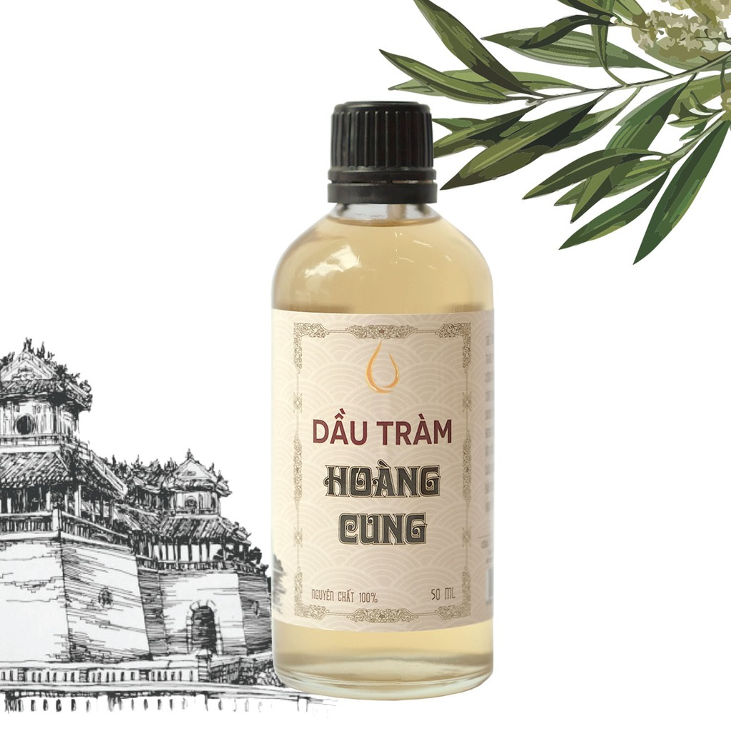 Dầu tràm nguyên chất Hoàng Cung - Dầu tràm Huế - 50ml (chai thủy tinh)