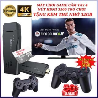 Máy chơi game cầm tay 4 nút HDMI 3500 trò Tặng thẻ 32GB trò chơi cổ điển PS1 Nitendo switch FC Compact FC BH 24 Tháng thumbnail