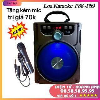 [Mã ELFLASH5 giảm 20K đơn 50K] Loa Kéo Bluetooth P88 P89 KIOMIC Tặng Micro Hát Karaoke Cực Hay