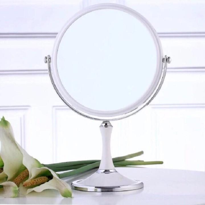 ẢNH THẬT Gương Trang Điểm Để Bàn 2 Mặt Monoco Cỡ Lớn 20cm