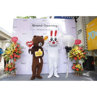 Mascot Gấu Brown giá rẻ nhất Việt Nam (Tặng áo làm mát)