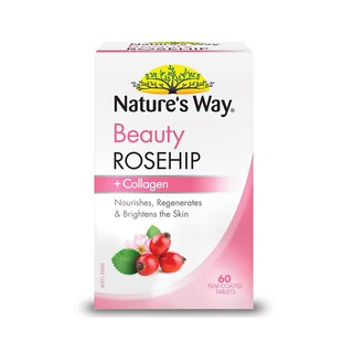 Viên uống trắng da Natures Way Beauty Rosehip & Collagen hộp 60 Viên thumbnail