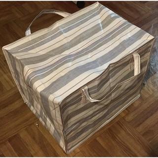 Túi bạt dứa kẻ mã lai dai, mịn đáy lớn 70x60x40 và 60x50x40 cm