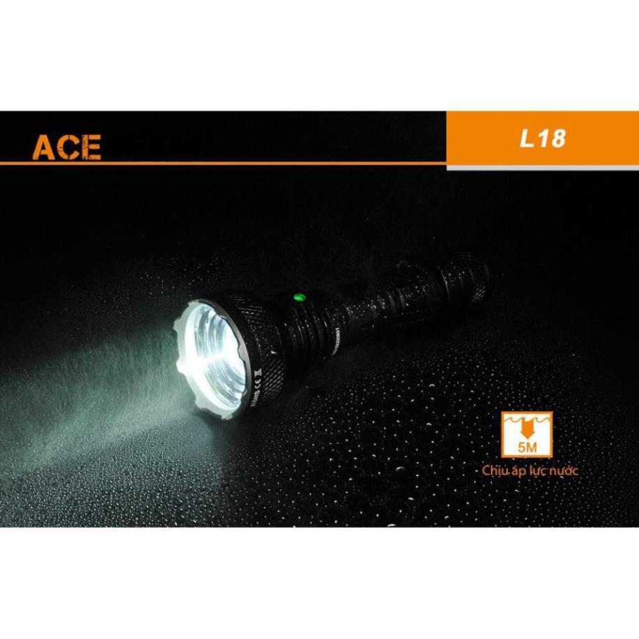 BẢN MỚI NHẤT] [SIÊU NHỎ GỌN] ACEBEAM L18 Đèn pin và đèn sạc nhỏ gọn sáng  1500 lumen chiếu xa 1000m LED Osram(k kèm pin)