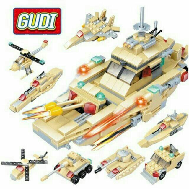 Lego 8 in 1 Gudi – mô hình tàu thủy