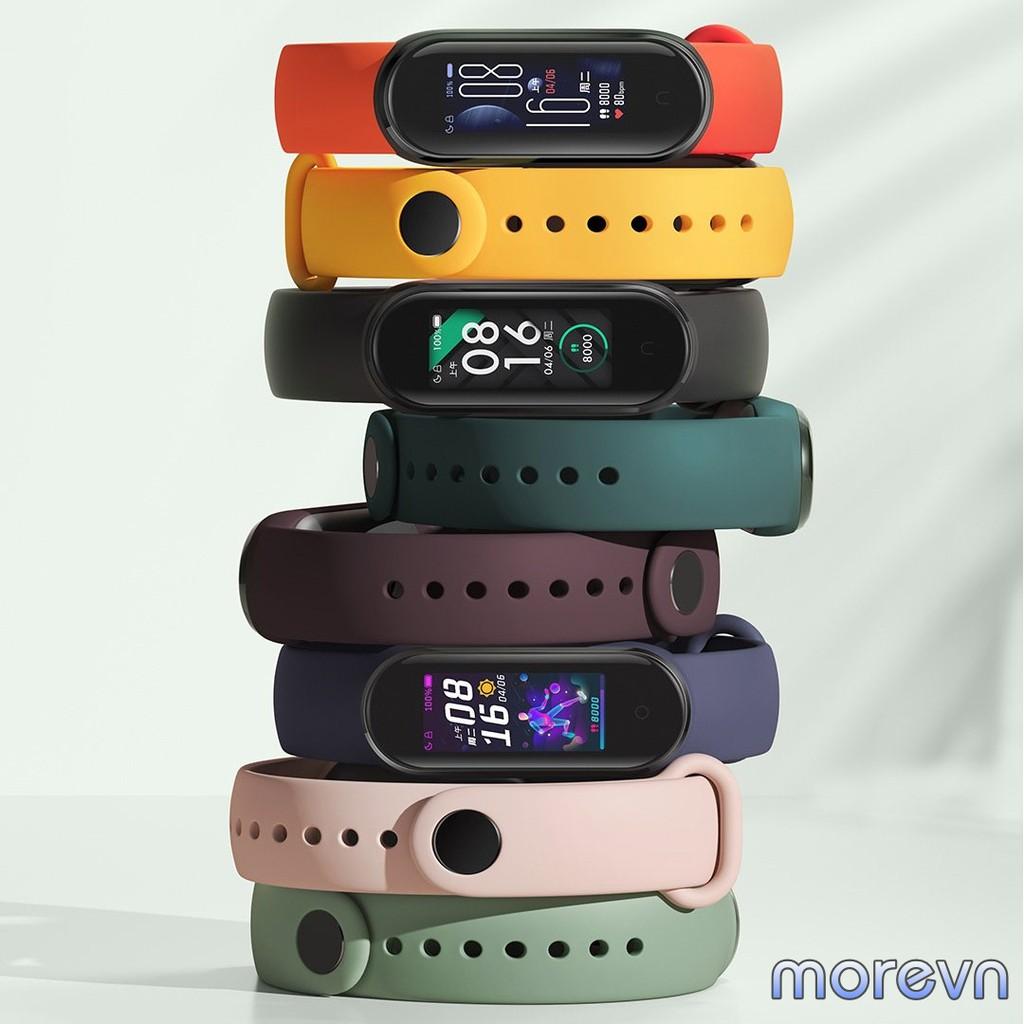 Dây đeo silicon Mi band 5 chính hãng Xiaomi - dây đeo silicon thay thế miband 5