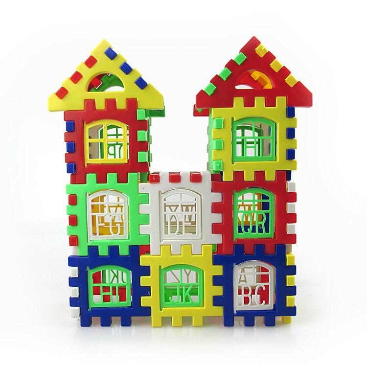 Bộ đồ chơi lắp ráp hình ngôi nhà nhiều chi tiết cho bé (giao màu ngẫu nhiên) S08