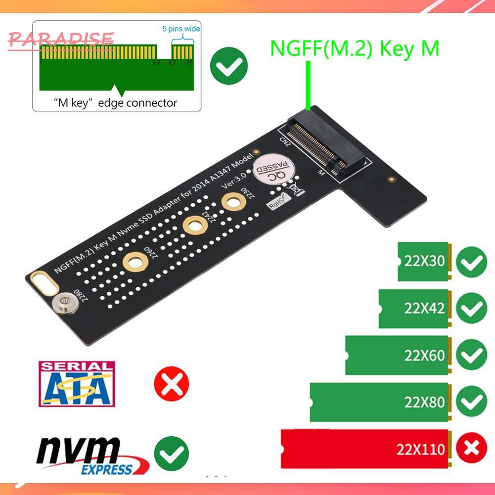 Bộ Chuyển Đổi Ssd M.2 Ngff Nvme M-Key Cho 2014 Macbook Mini A1347