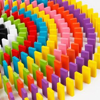 Bộ 100 Domino Gỗ 100 Quân Nhiều Màu