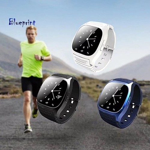 ☞BPBluetooth Pedometer Thermometer Music Player Dial Smart Wrist Watch for Phone