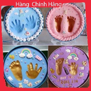 Bộ in dấu tay chân Baby Hand – Full Túi xách Xanh Hồng AOXBUIV9