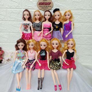 Búp Bê Barbie 💕Búp Bê Mắt Ngọc Kèm Váy và Giày adhshop
