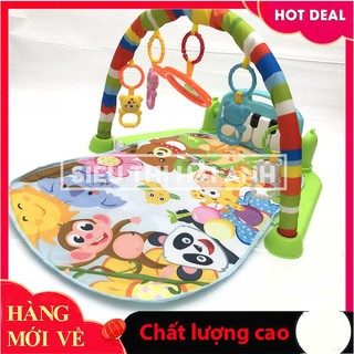[Tặng mã giảm giá khi mua sản phẩm] Thảm chơi vải lót cao cấp cho bé có giá treo ngộ nghĩnh và đàn nhạc GDTRONGL103