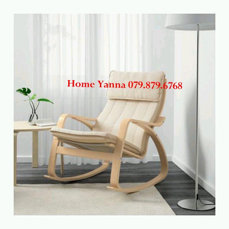 Ghế Thư Giãn Poang Rocking Chair Ikea Cao Cấp - Ghế Đọc Sách - Ghế Tựa Lưng