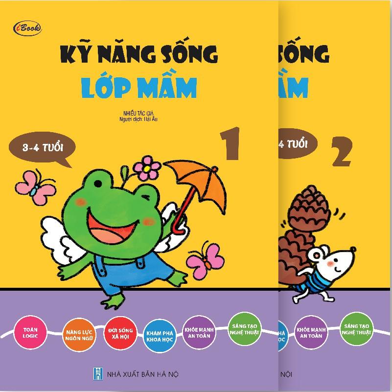 Sách thiếu nhi - Combo 2 cuốn KỸ NĂNG SỐNG - Lớp Mầm 3-4 tuổi (trọn bộ)