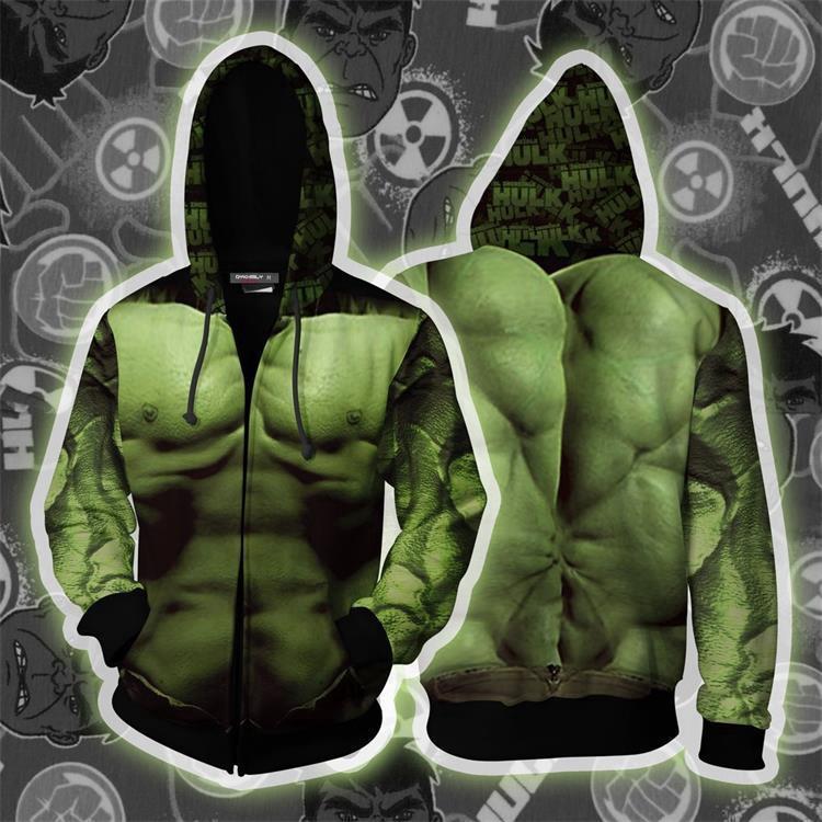 2019 New Avengers 4 Green Giant Hulk Anime Sweater Cosplay Sweater
