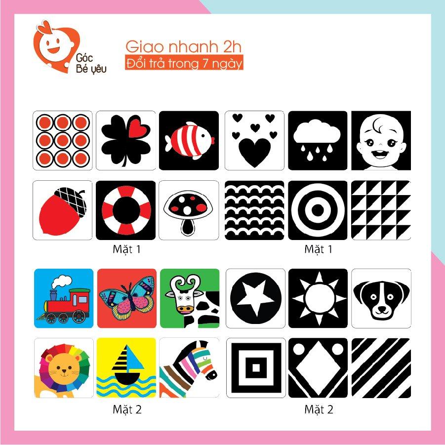 [Sỉ] Bộ thẻ Flashcard thẻ kích thích thị giác theo phương pháp Montessori Cho Bé Từ 0-36 Tháng Tuổi Sơ Sinh 3005