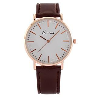 Đồng hồ thời trang nam nữ Geneva cực đẹp, dây da mềm êm tay