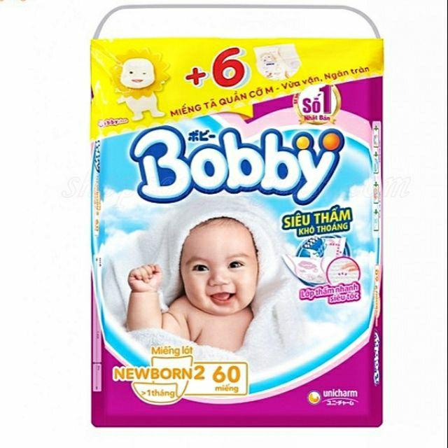(TẶNG 6 MIẾNG TÃ QUẦN SIZE M)Miếng lót bobby newborn 2-60 miếng - 14687899 , 2689332837 , 322_2689332837 , 107000 , TANG-6-MIENG-TA-QUAN-SIZE-MMieng-lot-bobby-newborn-2-60-mieng-322_2689332837 , shopee.vn , (TẶNG 6 MIẾNG TÃ QUẦN SIZE M)Miếng lót bobby newborn 2-60 miếng