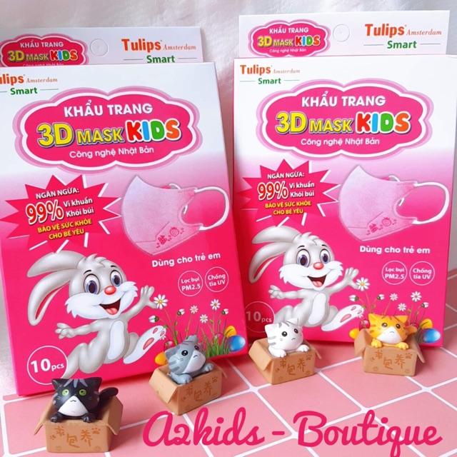 Khẩu trang trẻ em 3D Mask Kids Tulips (Hộp 10 cái)