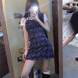Váy dây hoa tím ( có kèm ảnh thật)