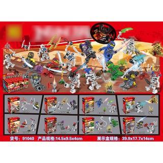 Đồ chơi lắp ráp lego ninjago và bọn xương lezi 91040 ninja season 7 trọn bộ 8 hộp.