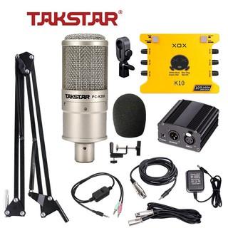 [CHÍNH HÃNG] Combo livestream, thu âm chuyên nghiệp Soundcard XOX-K10 KS108, Mic PC-K200, phụ kiện thumbnail