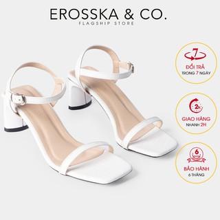 [Mã WABRLOW giảm 10% đơn 99K] Gia y sandal cao go t Erosska thời trang phô i dây ma nh cao 5cm màu tră ng - EB025 thumbnail