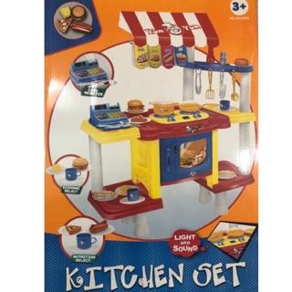 Đồ chơi Nhà bếp, bán thức ăn nhanh, cỡ lớn, có đèn, có nhạc cho các bé