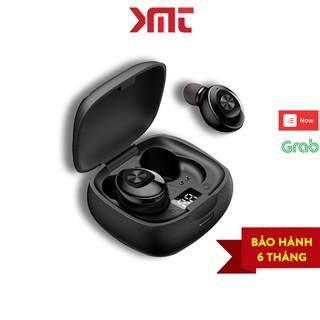 Tai nghe bluetooth 5.0 không dây nhét tai mini thể thao gaming kèm mic chống nước LED hiển thị pin KMT Store P12