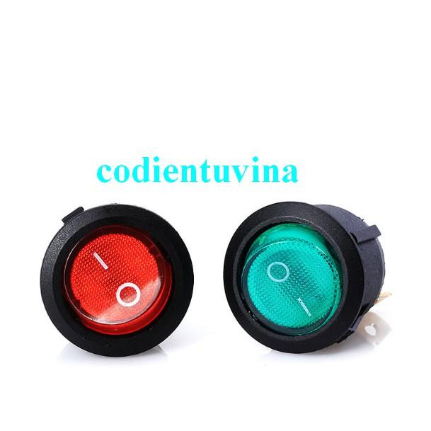 CÔNG TẮC BẬP BÊNH Loại 3 Pin KCD1-105 10A/125V 6A/250V (đường kính 20mm)