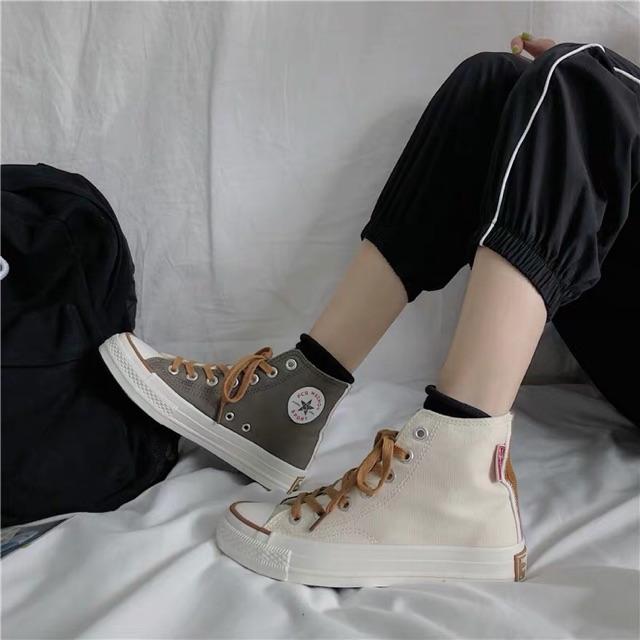 Giày converse cao cổ, thấp cổ phối 2 màu